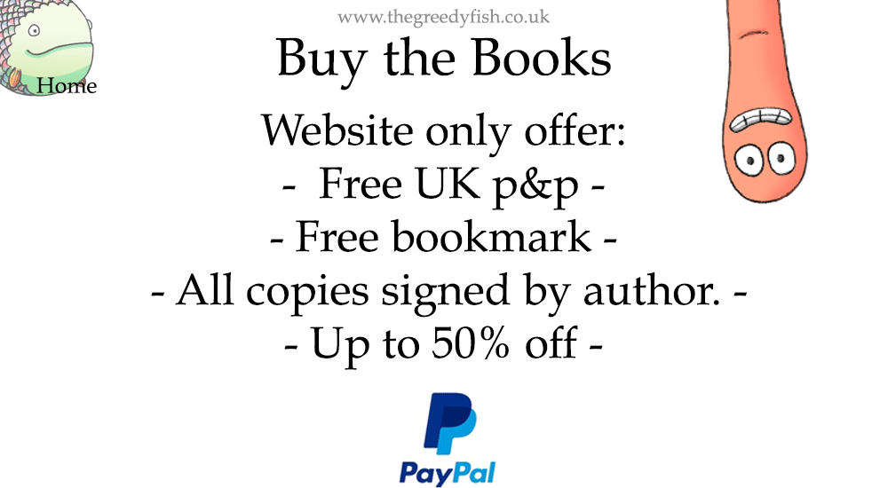 Buy the Greedy Fish book securely right here with PayPal or credit card.
