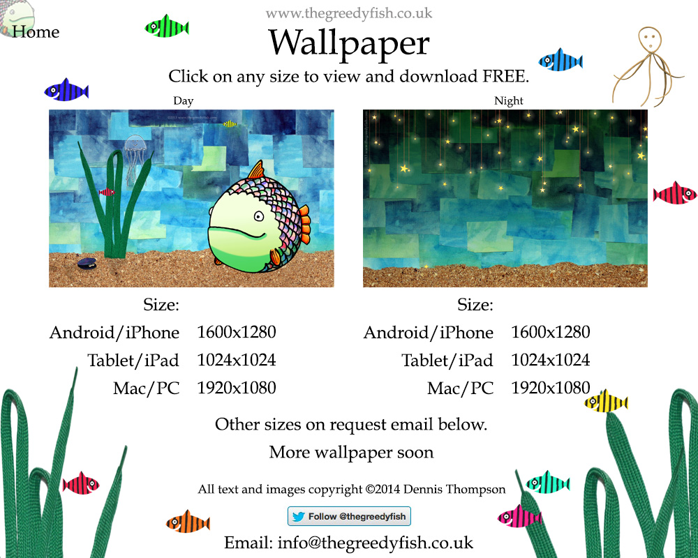 Here are some FREE Greedy Fish wallpapers for you to download.